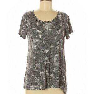 Lularoe Womens Graphic Classic Tee Shirt M Gray